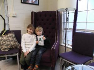 Kate and Jack got to sit in the birthday chair!