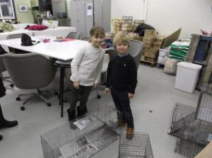 Tiny trappers at work!